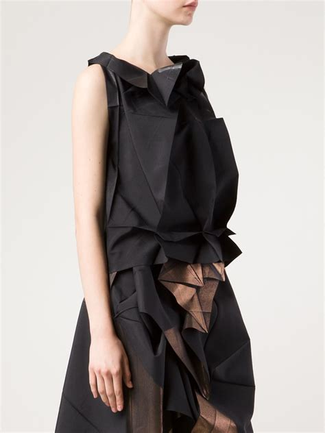 Origami Clothing Brand - 132 5 issey miyake origami style sleeveless top in black
