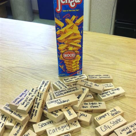 Or Jenga For Adults Jenga Targeting Orientation Problem Solving Sequencing Word Finding Following