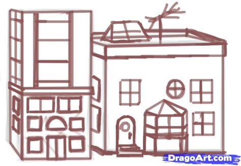 how to build a building how to draw a building step by step buildings landmarks places free drawing