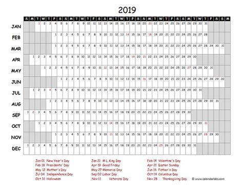 2019 Excel Calendar Project Timeline Free Printable Templates 2019 Calendar Template Excel