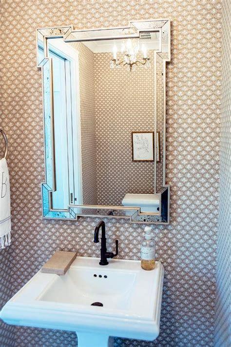 powder room pedestal sink powder room with key mirror and pedestal sink