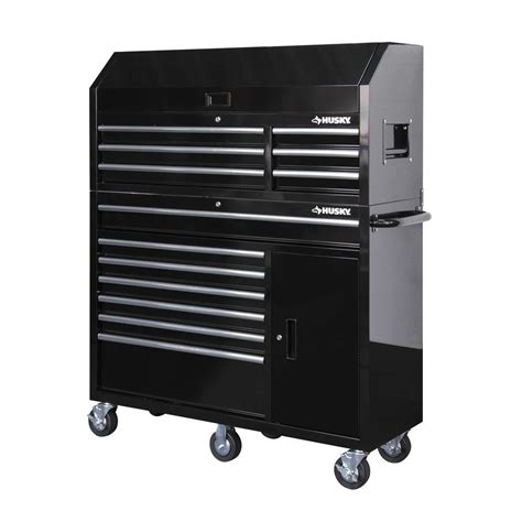 husky 52 in 18 drawer tool chest and cabinet set husky 52 in 13 drawer and 1 door tool chest and rolling