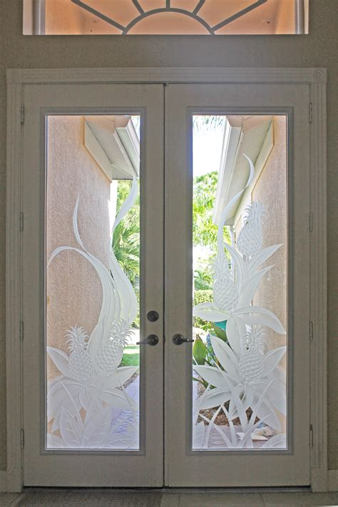 custom etched glass door inserts in fort myers naples