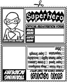 Printable pdf file for i d tags 6 per page superhero id