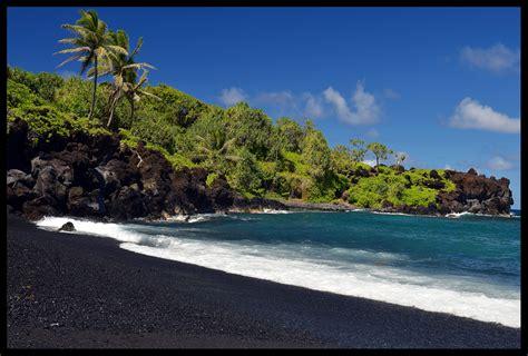 black sand beach maui maui hawaii black sand beach