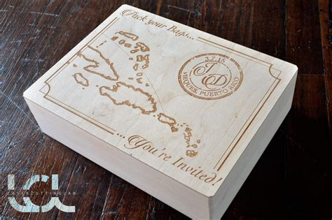 laser engraved wedding boxes vintage style