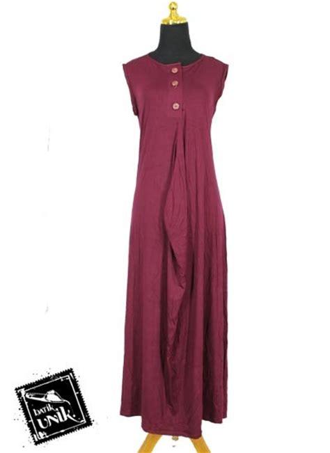 Baju Muslim Baju Murah Dress Murah Drappery Wide Dress baju muslim gamis wide dress kaos tanpa lengan gamis muslim murah batikunik