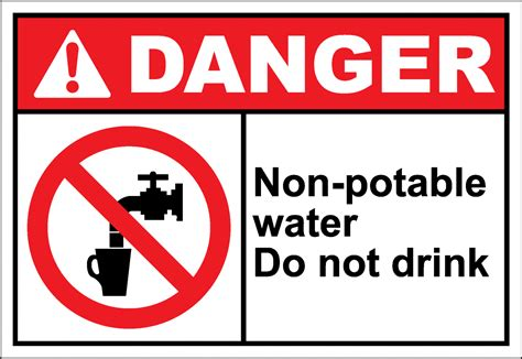 not water do not drink the water sign clipart best