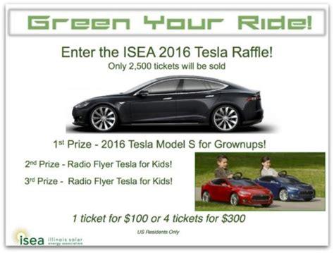 Tesla Model S Raffle Illinois Solar Energy Association Isea Raffling 2016