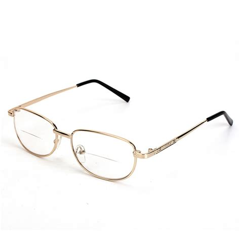 Metal Frame Lens Glasses fashion bifocal lens rimmed s reading glasses gold