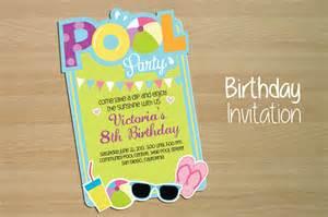 invitation pool invitation templates on creative market