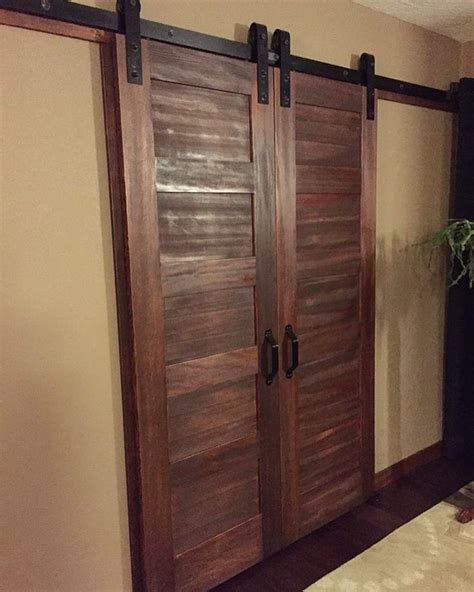 Barn Door Bedroom Bedroom Walk In Closet Doors The 5 Panel Doors With Rustica S Barn Door Slider Hardware