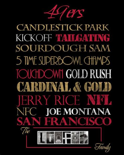 gifts for 49ers fans san francisco 49ers personalized print or canvas gifts