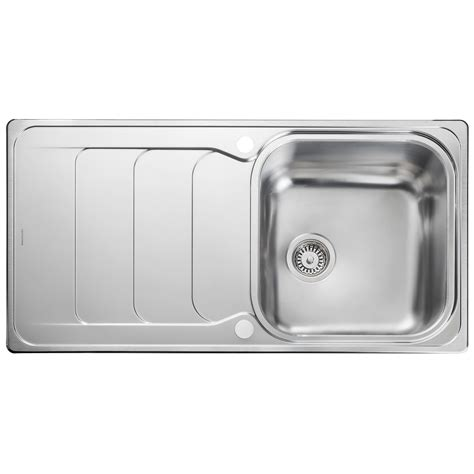 rangemaster kitchen sinks rangemaster houston 985 x 508mm stainless steel 1 0b inset