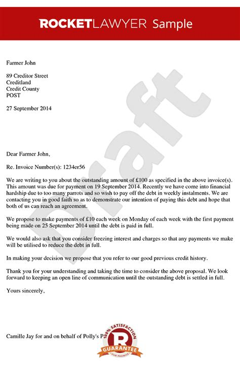 Letter Of Agreement For Money Owed Demand Letter For Money Owed With Sle Agreement Letter For Money Owed Letter Sle
