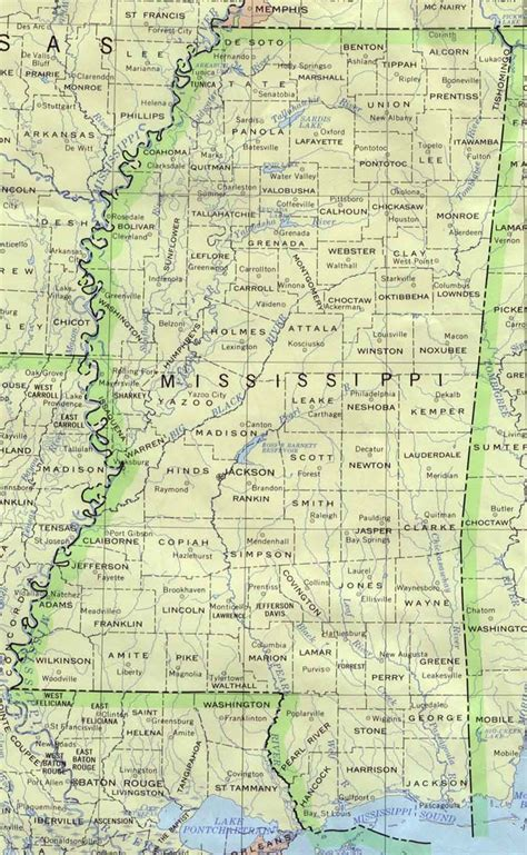 miss usa maps mississippi base map