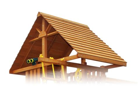 swing set roof cedar wood roof with sunburst swing set additions