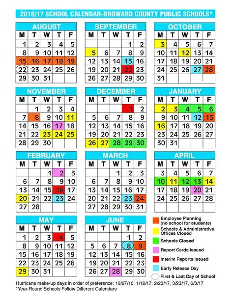 Broward County School Calendar Broward School Calendar Free Calendar 2017 2018