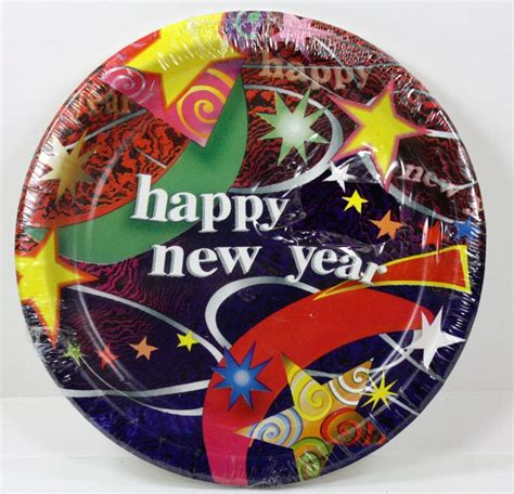 new year paper plates uk 8ct 6 3 4 quot happy new year s celebration paper plates