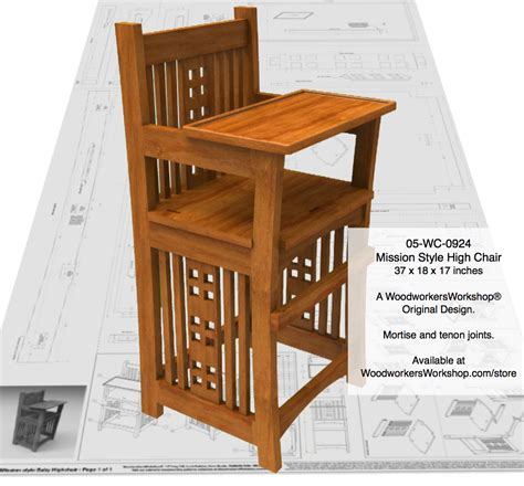 mission style woodworking plans 05 wc 0924e mission style baby highchair woodworking