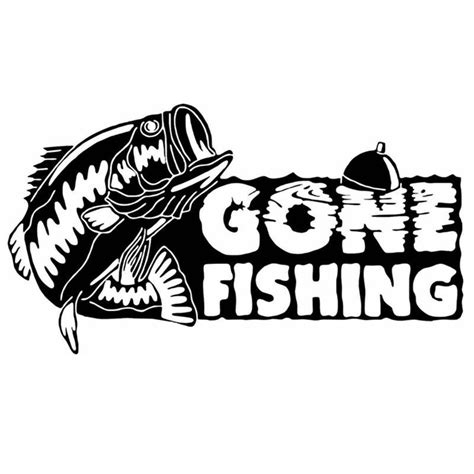 fishing sticker name fish bass decal angling hooks tackle