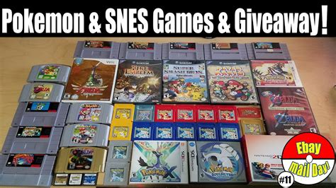 Pokemon Game Giveaway - pokemon snes games giveaway ebay mail day ep 11 the pokemon hub