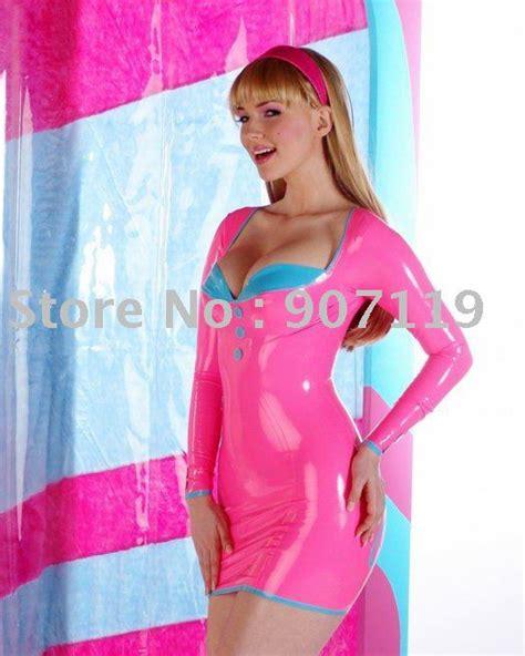 light pink latex dress aliexpress com buy 100 latex rubber fetishism dress
