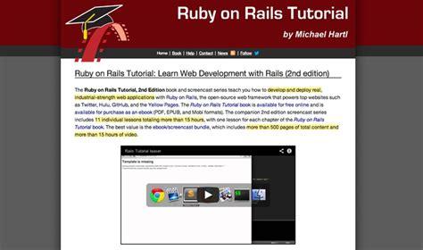 online tutorial ruby ruby on rails tutorial http ruby railstutorial org