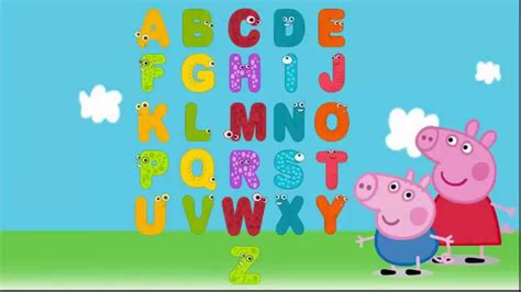 learn alphabet with peppa pig