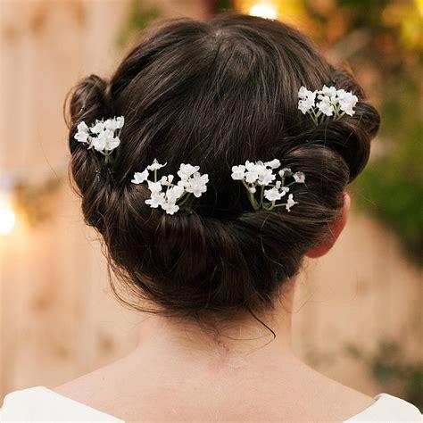 wedding hair with gypsophila hettie gypsophila hair pin by vintage