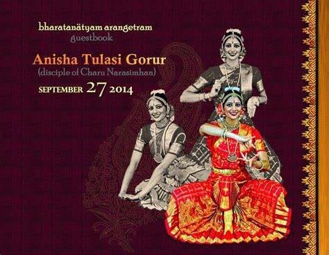 Bharatanatyam Arangetram Guestbook Front Cover Design By Arangetram Invitation Templates