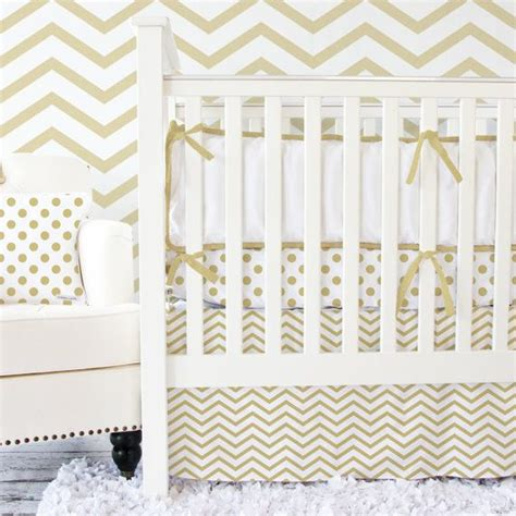 111 Best Gold Nursery Inspiration Images On Pinterest Cheap Chevron Crib Bedding