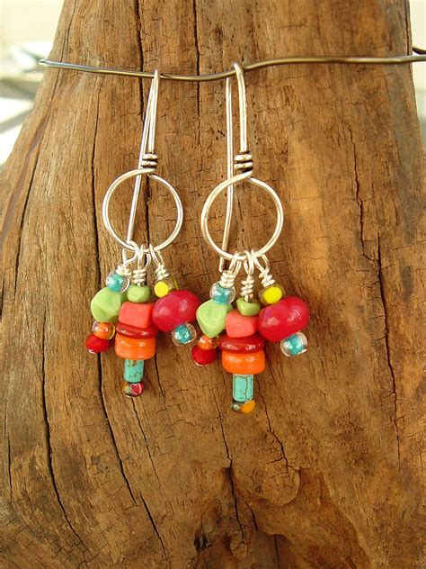 Chandelier Earrings Etsy Boho Earrings Colorful Earrings Sundance Style Bohemian