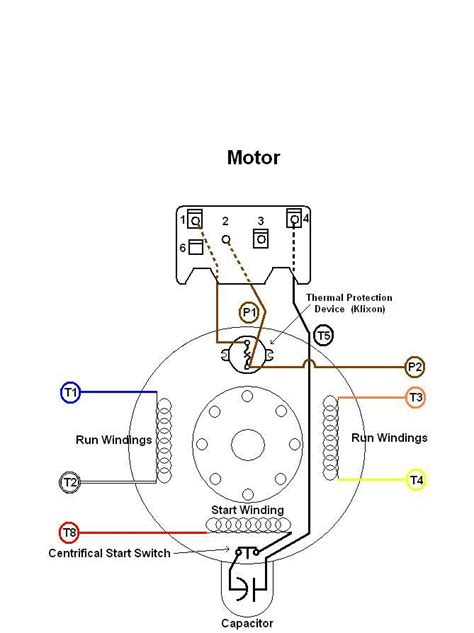 ac motor with capacitor wiring diagram ge electric motor capacitor