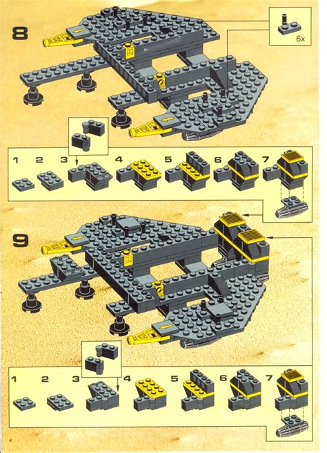 Building Site Plan Lego Renegade Instructions 6954 Space