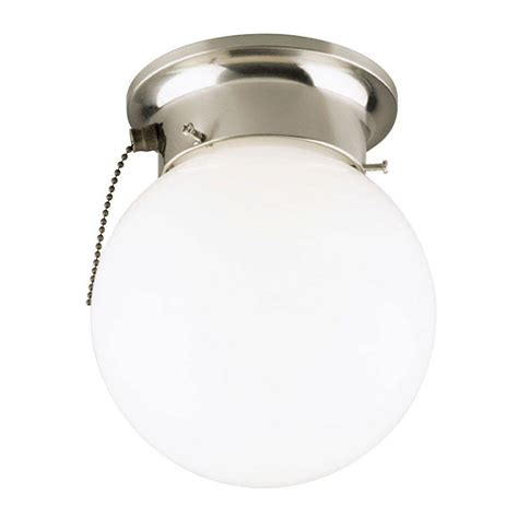 Ceiling Mount Light With Pull Chain by Westinghouse 1 Light Brushed Nickel Interior Ceiling