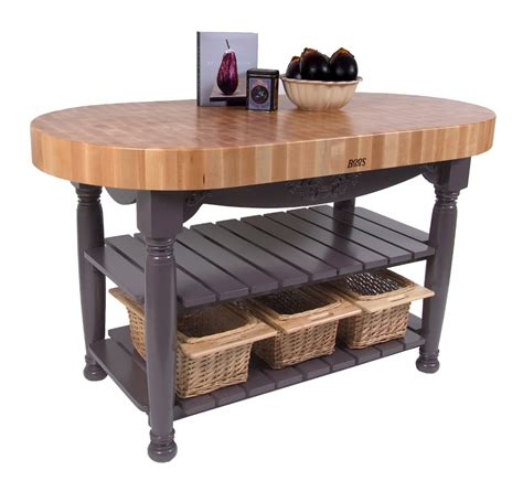 Boos Block Kitchen Island Boos Harvest Table Oval Butcher Block Island