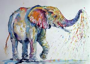 colorful elephant colorful elephant painting by kovacs brigitta