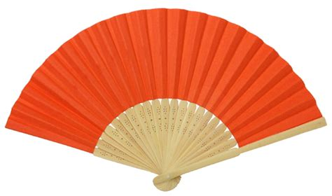 Folding Paper Fan - folding paper fan 8 25 quot orange