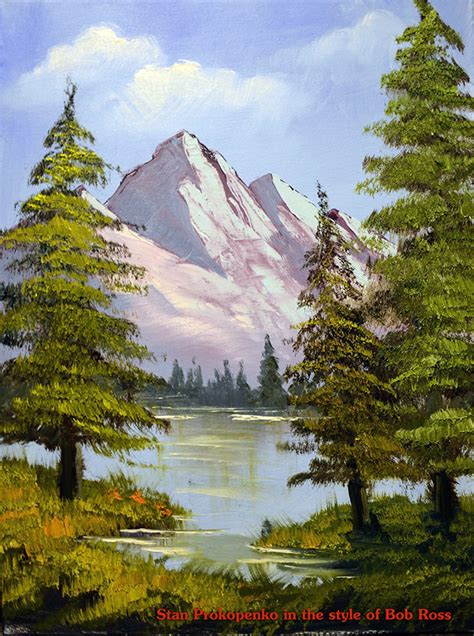 bob ross painting a happy tree how to paint happy trees bob ross proko