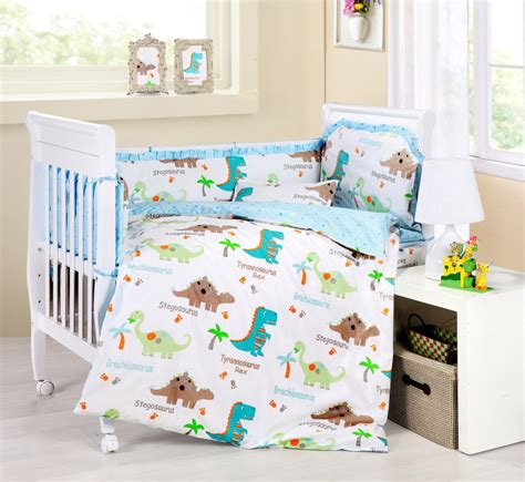 Dinosaur Crib Bedding Nursery Baby Bedding Crib Cot Sets 9 Dinosaurs Theme Rrp 150 Ebay