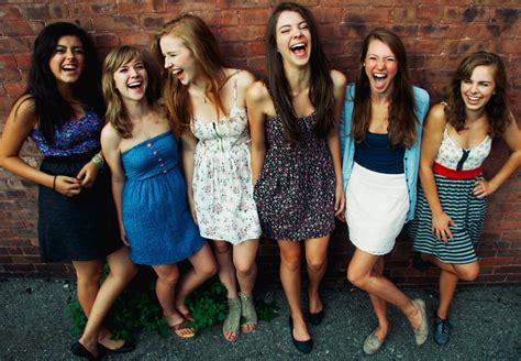 group teen girls laughing the truth about girls