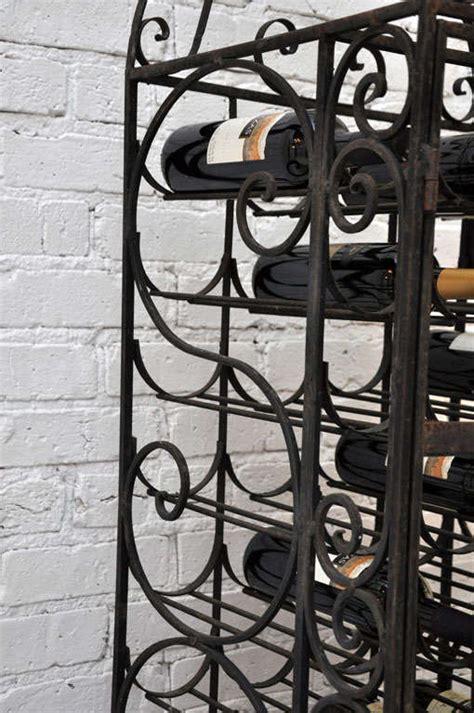 handmade wrought iron wine rack at 1stdibs