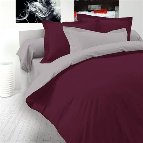 maroon bed set maroon grey cotton bed linen set reversible duvet