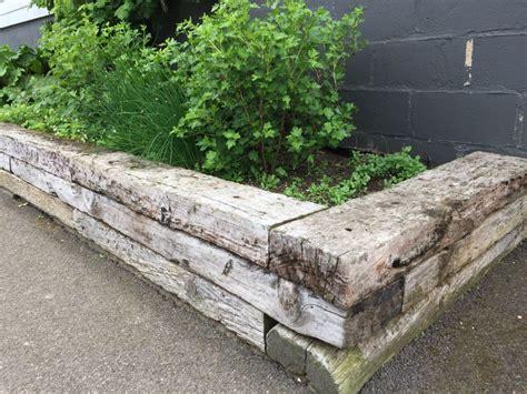 Railway Sleepers Norfolk norfolk lavender railway sleeper raised beds