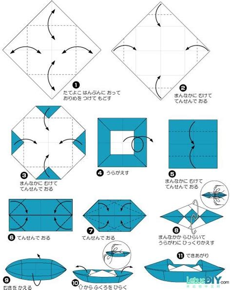 Origami Bot - diy paper folding paper boat with 2 sails letusdiy
