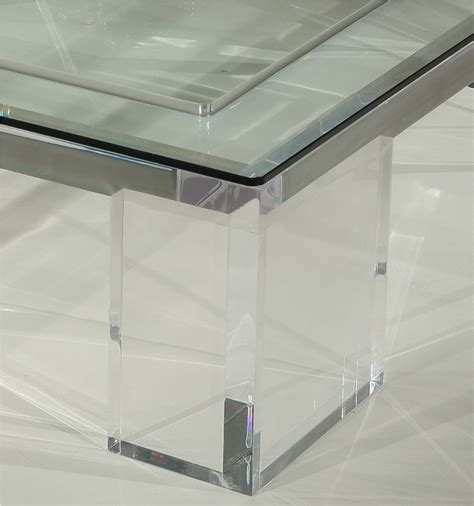clear glass table l l coffee table clear acrylic coffee table acrylic furniture