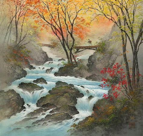 imagenes de paisajes japonesas cuadros modernos pinturas y dibujos susurrantes paisajes