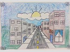 One-Point Perspective City Streets (5th) - Art with Mrs ... Naturalistic Design Drawing