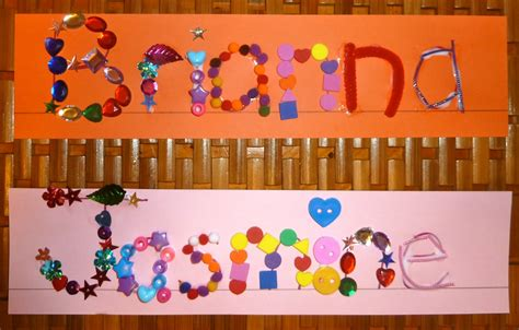 name crafts for tactile name